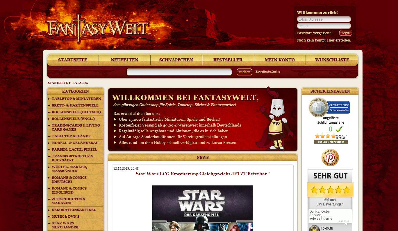 Fantasywelt.de Online Shop